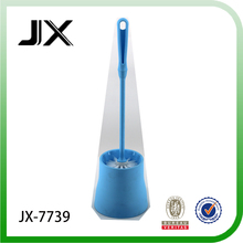 blue color plastic toilet cleaning brush set with round holder for toilet cleaning use