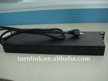 American type 8 outlets two-sided PDU socket for cabinet