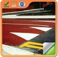 Colored pavement / colored asphalt overlay / road construction for asphalt color coating