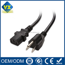 UL Approval 18AWG US Universal Power Cord IEC320 C13 to NEMA 5-15P AC Power Cable