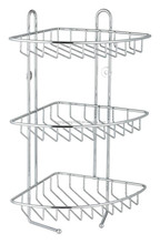 3 TIER STAINLESS STEEL CORNER SHOWER RACK CADDY/SHELF/BATHROOM ORGANIZER
