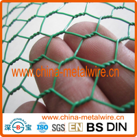 PVC Coated Galvanized Hexagonal Steel Chicken Wire Mesh Netting for Farm,Coops (Factory & Exporter)