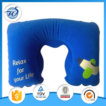 Inflatable neck pillow for promotion