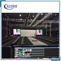 Light weight janpanses free video indoor P5 rental die-casting aluminum cabinet led screen dance floor led display board