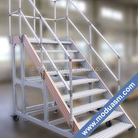 aluminum tube railing for stair and platform system