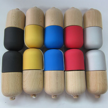 Rubber Sticky Paint Wooden Capsule Kendama Pill