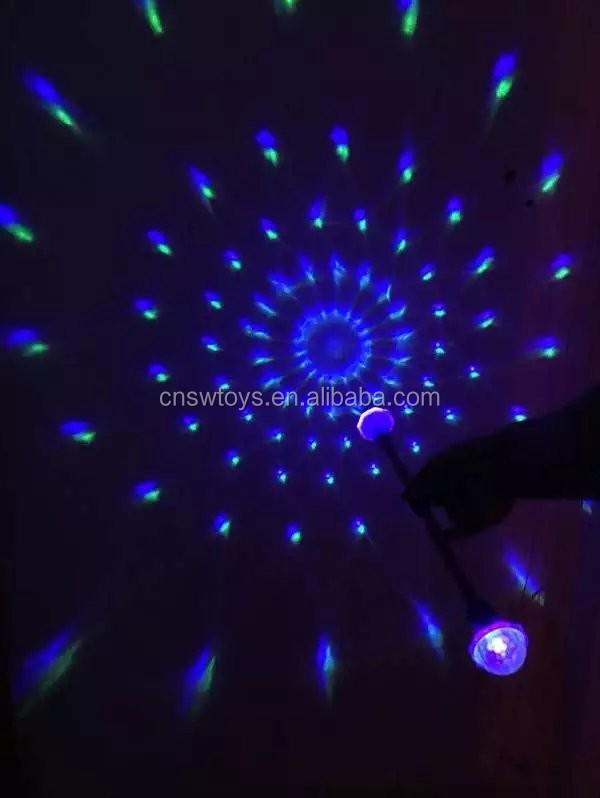spinning light toy wand stick option music