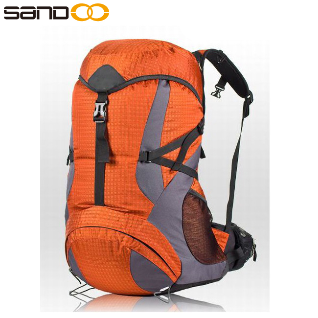 Sandoo high quality polyester waterproof professional hiking <strong>backpack</strong> 40l