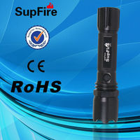 SZ JI SupFire 3w led flashlight and electric charge torch light