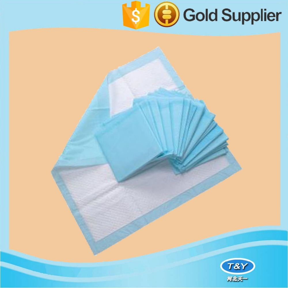 Hospital disposable underpads/urine absorbent pet pads with breathable paper