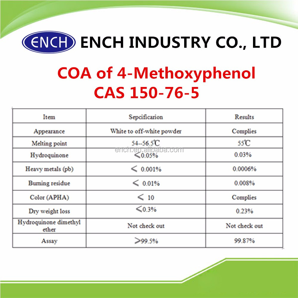 Top qulality 4-Methoxyphenol CAS 150-76-5