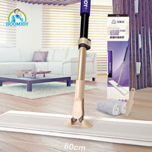 telescopic handle with purple foam and microfiber mop pad for daily cleaning mop