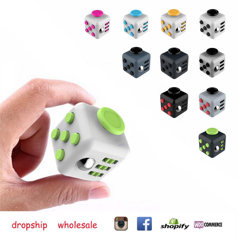 1pcs Decompression Cube Resistance to Anxiety Dice Fidget Cube Dropship