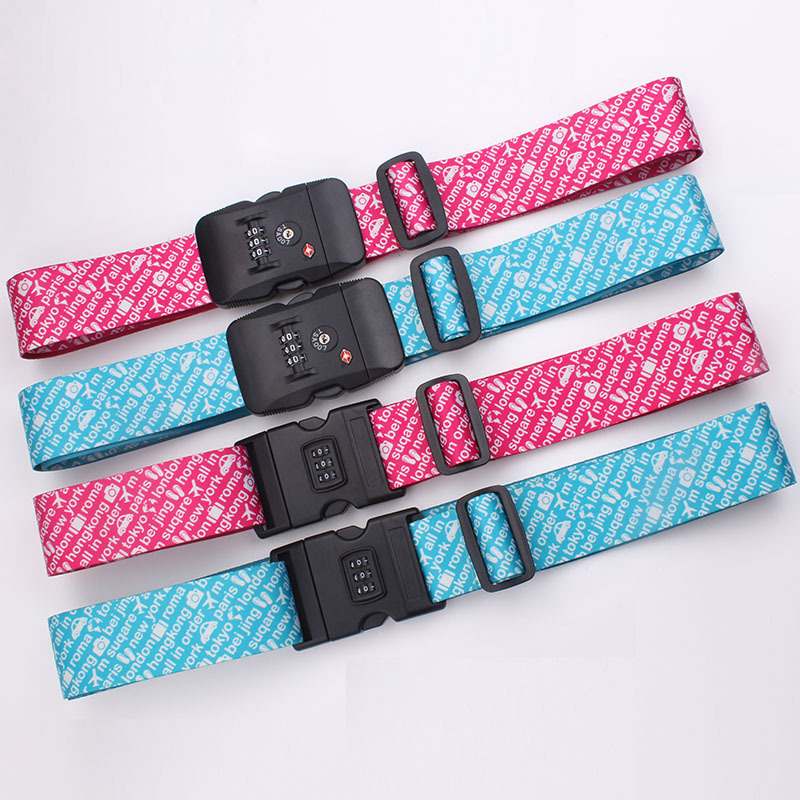 Professional Manufacturer Custom Practical Nylon Luggage Scale Bag Belt With Digital Lock