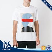 Guangzhou Shandao waterbased screen printing 180g 100% organic cotton O-neck short sleeve skin color t-shirt