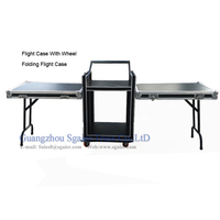 Hot aluminum flight case with legs top quality