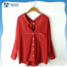 2014 fashion new models elegant women chiffon blouses shirt
