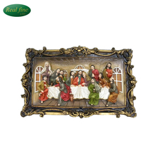 Resin the 3d last supper statue for home decoration