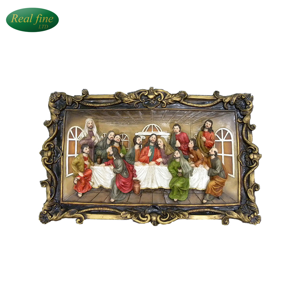Resin the last supper 3d statue for home decoration
