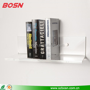 High transparent wall mounted acrylic shelf with cheap price