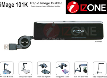 I Zone 5M Pixels Auto Focus A4 Scanner USB Video Visualizer