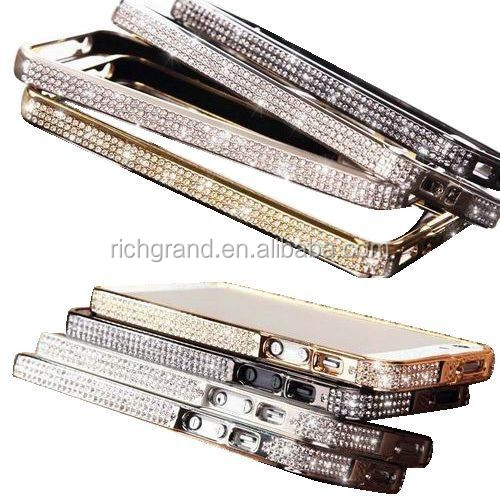 For iphone 5s diamong bling metal frame bumper case cover