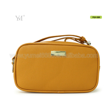 women luxury designer promotion leather make up cosmetic pouch bag