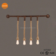 Loft rustic waterpipe wall light with edsion bulbs for home or coffee room W7069
