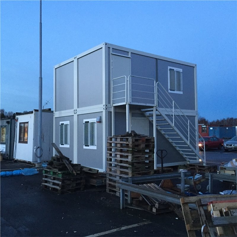 Luxury Malaysia Flat container home for show room with decoration sheet