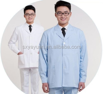 The new men's wear and white uniforms of the white lab coat hospital