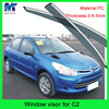 High Quality car parts window rain visor for citreon C2