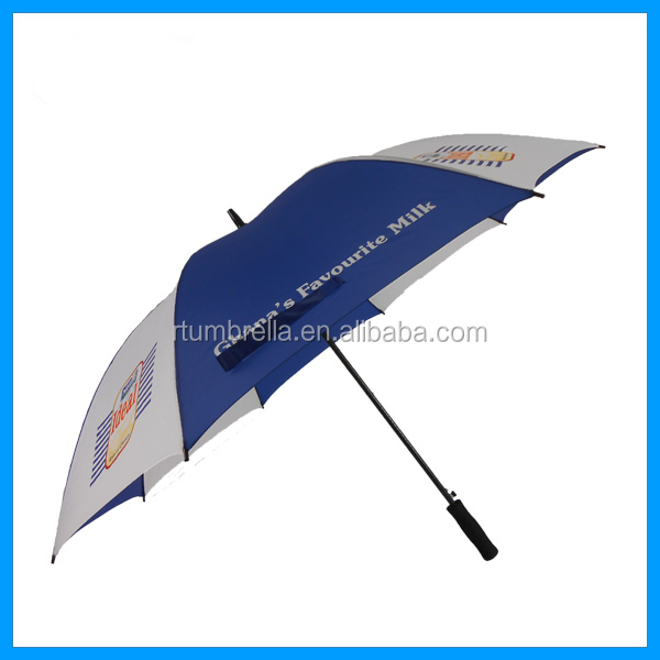 "30"" large windproof and waterproof fiberglass golf umbrellla/promotion umbrella"