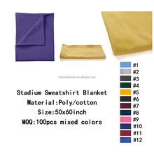 High Quality Quick Dry Knitted Soft Stadium Sweatshirt Blanket