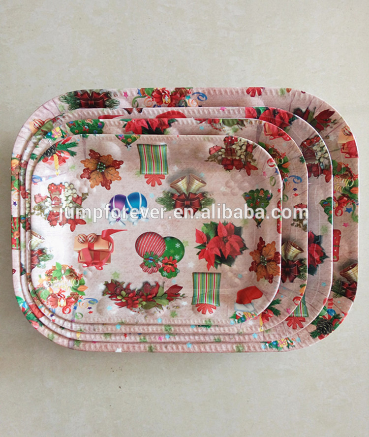 Customizable Deep rectangle plastic tray/dry fruit tray/food tray