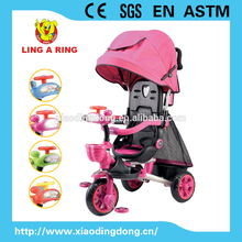 baby tricycle with rubble wheels and suspension 2016 new product pefect gift