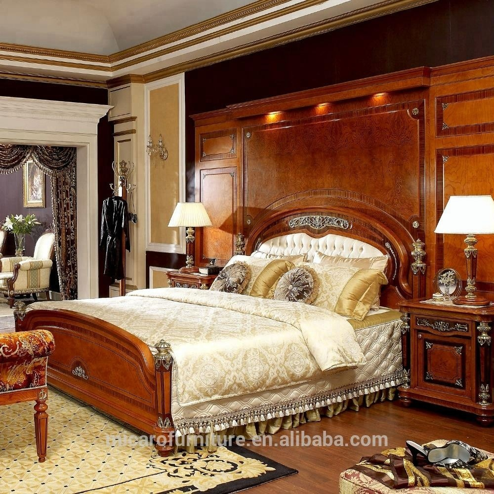 Luxury Royal Wooden Bedroom Furniture Set With King Size Bed - Buy Luxury  Bedroom Furniture Set,Wooden Bedroom,Kind Size Bedroom Product on ...