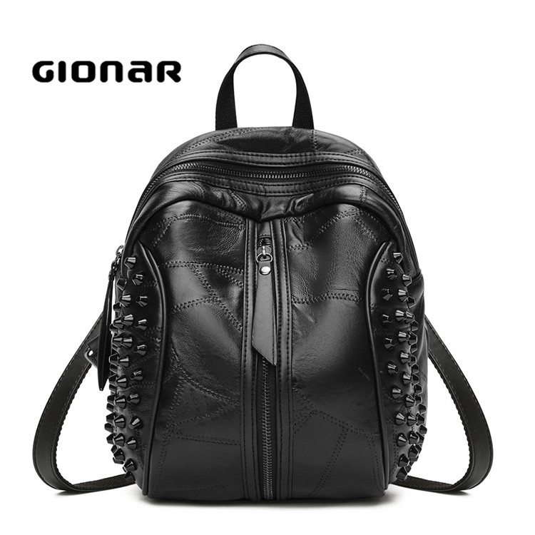 East Women Famous Brand Genuine Leather Fashion Backpack