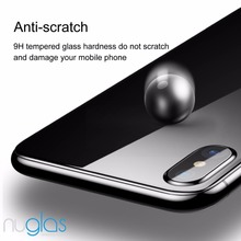 Nuglas BACK Glass Top A quality tempered glass screen protector for iphone X