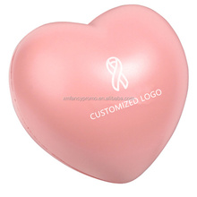 Promotional Anti Stress Ball With Customized logo heart shape