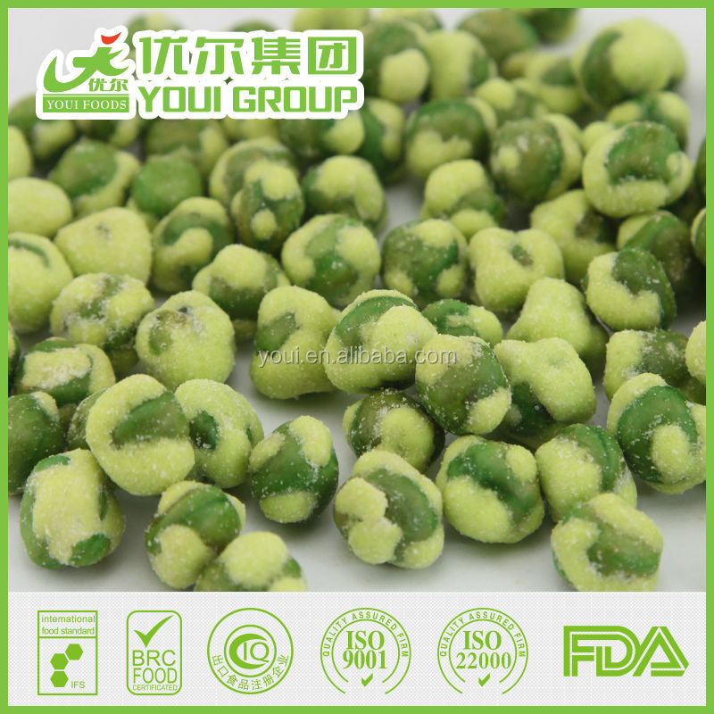 Canadian Yellow Peas Yellow Wasabi Coated Green Peas