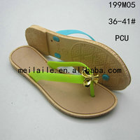 fashion shoes pcu material for slippers lady