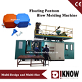 Floating dock extrusion blow molding machine