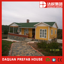120m2 heat insulated layer system prefab house for cold area