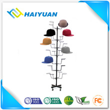 Commercial metal hat display racks stand for retail store