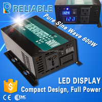 600w pure sine wave dc ac car battery power inverter