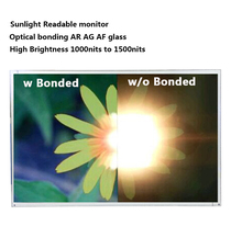 19 inch outdoor touch screen LCD monitor 1000 nits sunlight readable display