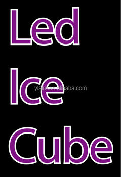 ice cube led keychain for Night Club & Event & Party Decorations