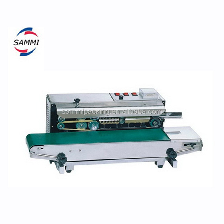 low shipping price continuous pouch sealing machine with date /batch number coding function