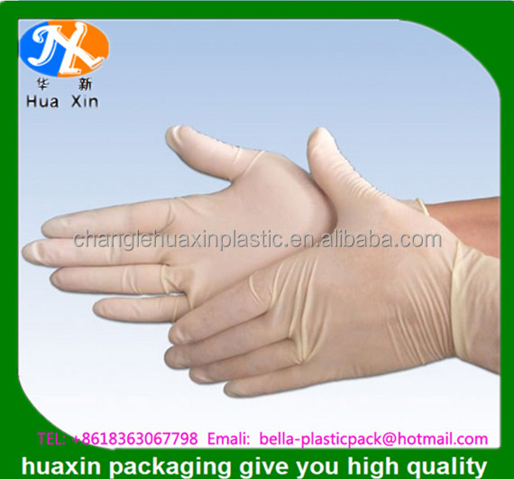 Cheap white disposable top glove latex surgical gloves for Medical