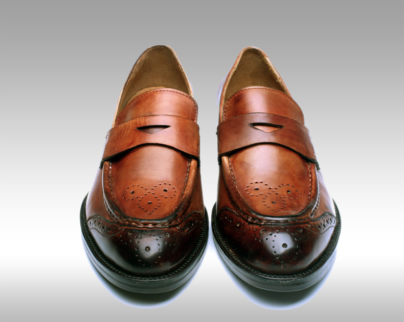 Goodyear welt calfskin leather Men's shoes durability and repair qualities